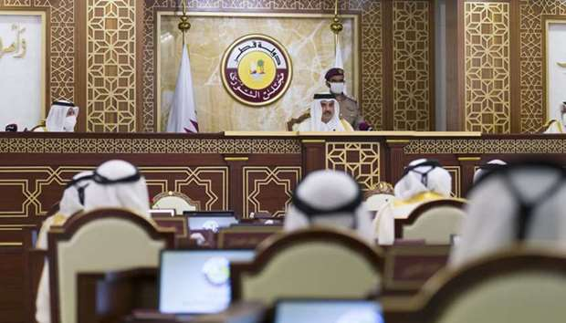 Amir inaugurates Shura Council 49th ordinary session