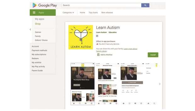 A screenshot of the 'Learn Autism' app.