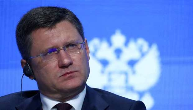 Russian Energy Minister Alexander Novak attends the Energy Week International Forum in Moscow, Russi