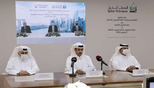 HE the Minister of State for Energy Affairs Saad Sherida al-Kaabi at a ceremony held virtually on Mo