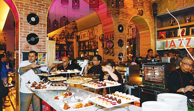 An interior view of the Urban Jazz Kitchen at The Pearl-Qatar.