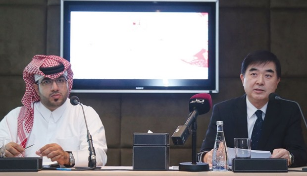 Qatar Museums' Mohamed al-Othman and Chinese ambassador Li Chen speak about the Qatar-China 2016 Yea