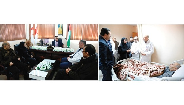 The delegation of Hamad Medical Corporation visiting Qatar Red Crescent Society office and a hospita