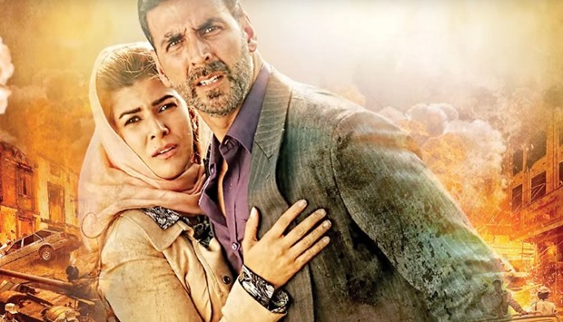 IMPRESSIVE: Akshay Kumar, seen in this publicity still with Nimrat Kaur, is very convincing in the l