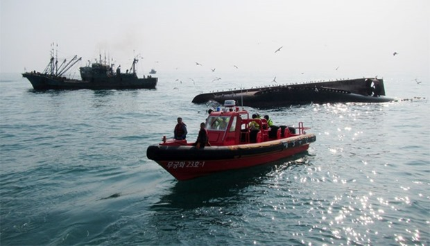 Search for capsized Chinese boat