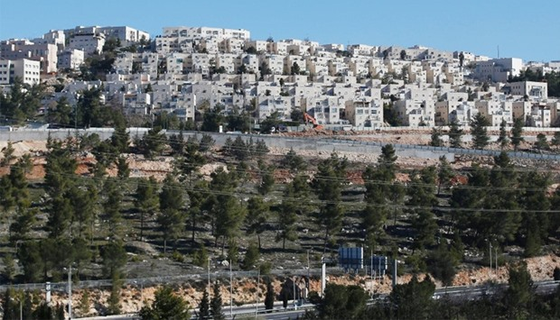 Housing units in the Jewish Ramat Shlomo settlement,  east Jerusalem