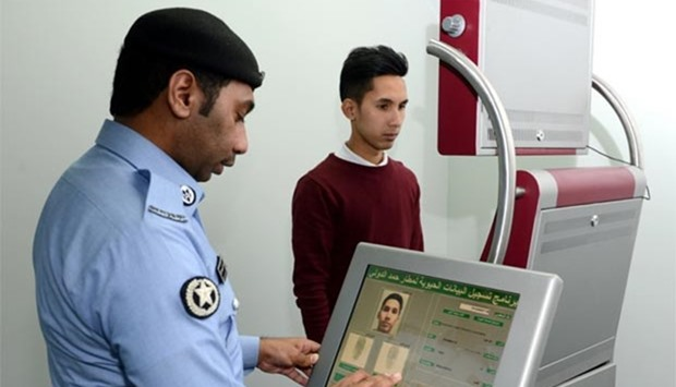 Biometric data activation centre at HIA.
