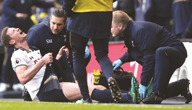 Spurs' Vertonghen facing up to two months out with injury