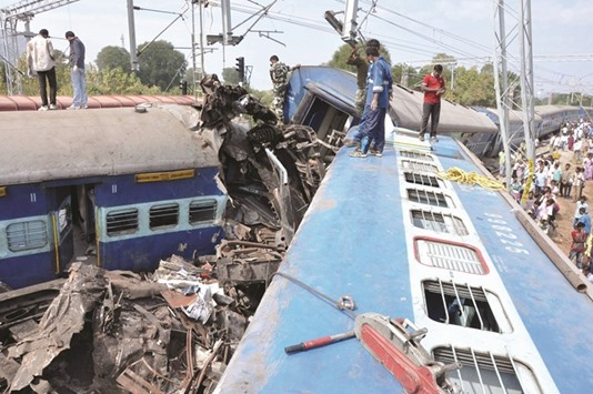 At least 13 killed as Indian train derails