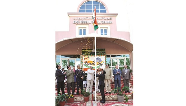 The 68th Republic Day of India was celebrated at DPS-Modern Indian School yesterday morning with a s