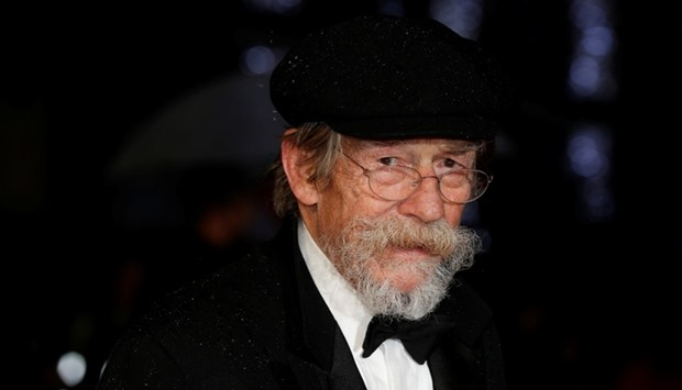 "Actor John Hurt arrives for the European premiere of the film ""The Imitation Game"" at the BFI openin"