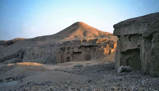 Ancient mining building in Egypt