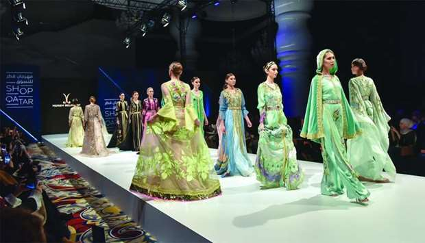 Meriam Belkhayat 's 'Lost in a dream' collection showcased at the Arabian fashion show on Wednesday
