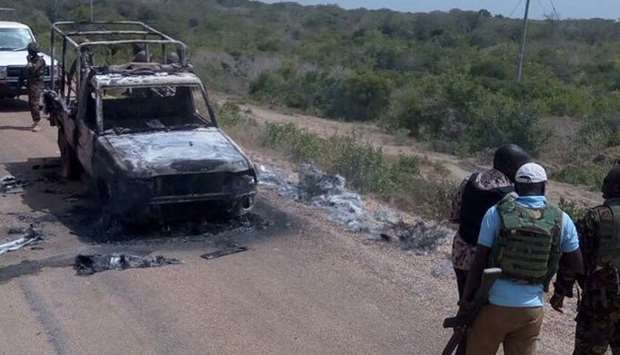 A gang of suspected Al Shabaab terrorists attack security convoy