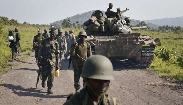 Congolese army soldiers