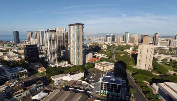 A view of the city of Honolulu, Hawaii is seen yesterday morning