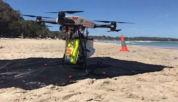 Drone used to save two swimmers caught in rough surf