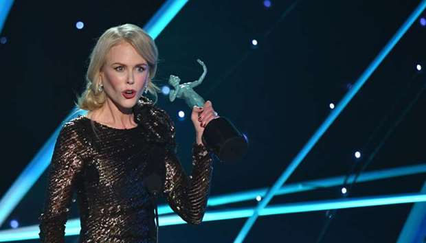 Nicole Kidman accepts the Outstanding Performance by a Female Actor during the 24th Annual Screen Ac