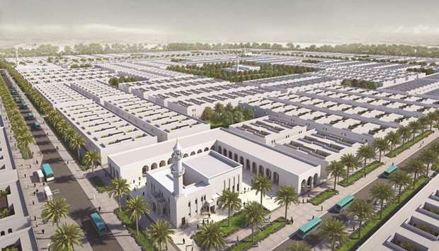 Artist's impression of a new labour city project by Barwa Real Estate Company on Salwa Road