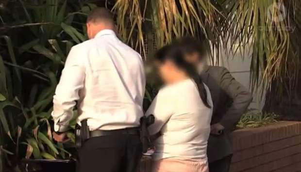The 40-year-old Sydney woman was arrested by the NSW joint counter-terrorism team
