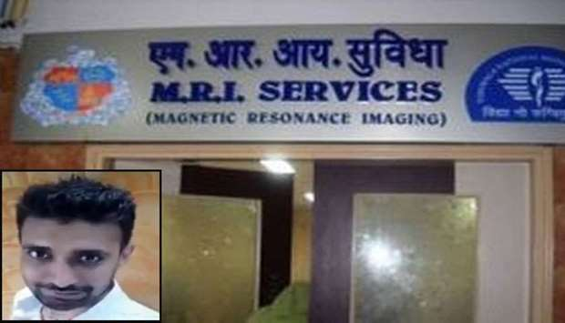 Outside view of the MRI room at the BYL Nair hospital. Inset: Rajesh Maru