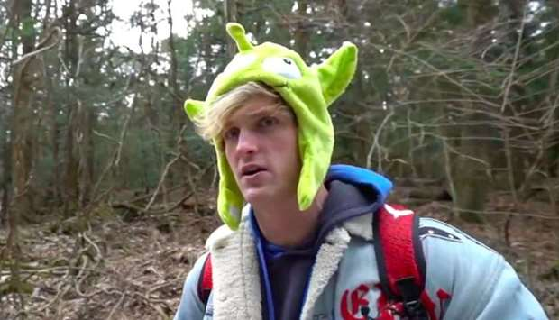 Logan Paul appears in a now-deleted suicide forest video
