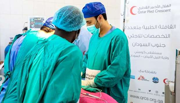 A total of 55 surgeries and 400 medical examinations were conducted for the local community and refu
