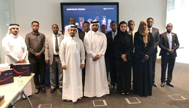 QFBA and QFC officials with the high-level delegation from Somalia.