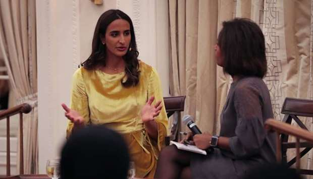 HE Sheikha Hind bint Hamad al-Thani during 'Off The Record' discussion