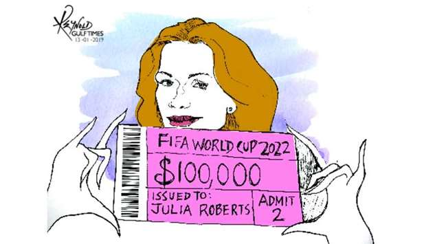 Julia Roberts - Qatar 2022- Cartoon