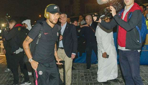 PSG superstar arrives in Doha
