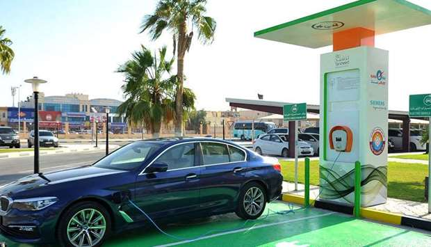 8th electric car charging station in Qatar opened