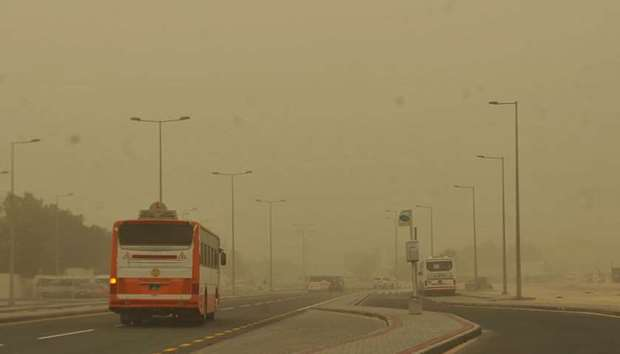 Strong dust storm hits Qatar