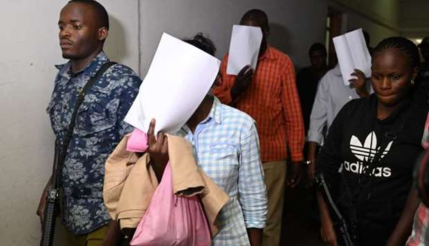 Suspects, arraigned in court in connection with an Islamist attack on a Nairobi hotel complex that l