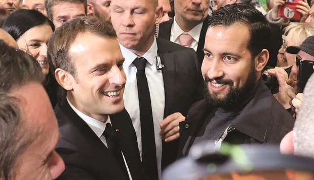 Macron with Benalla