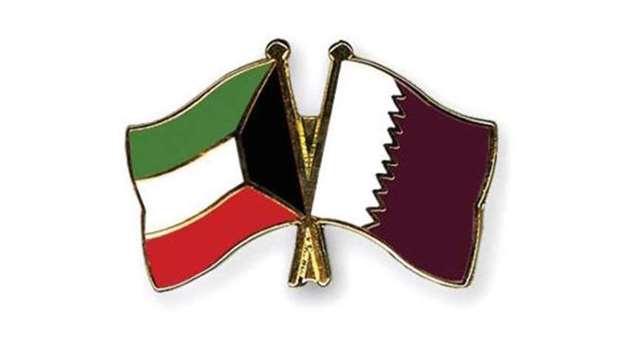 Qatar-Kuwait flags