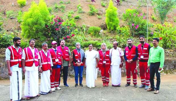 QRCS and IRCS officials during their visit to Kerala