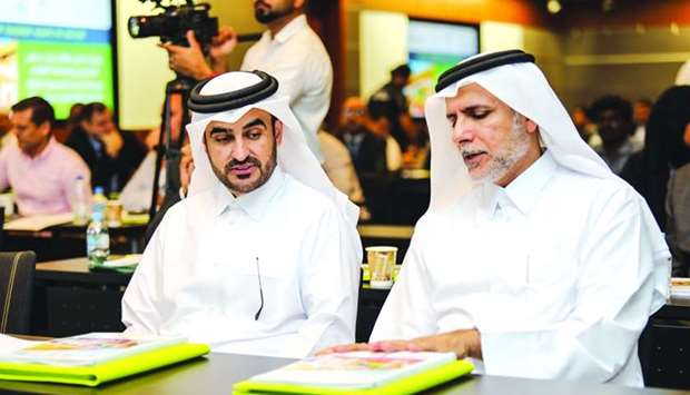 Dr Yousef Alhorr (right) and Abdulaziz al-Hammadi at the event