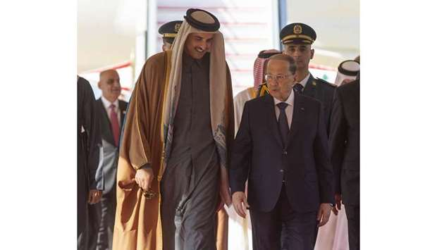 Amir holds phone talk with Aoun