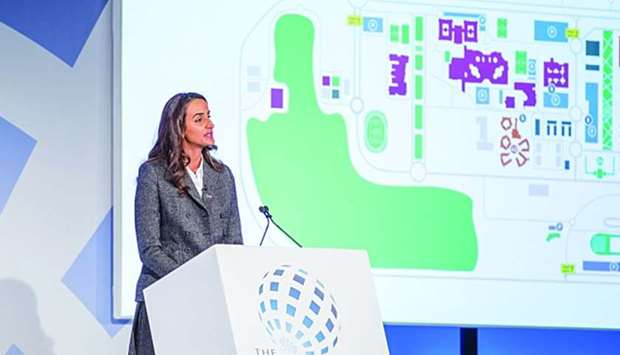 HE Sheikha Hind bint Hamad al-Thani speaks at the Education World Forum in London