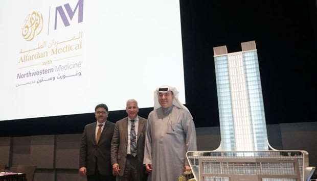 (From right) Omar Hussain Alfardan, president and CEO, Alfardan Group; Dr Daniel M Derman, senior vi