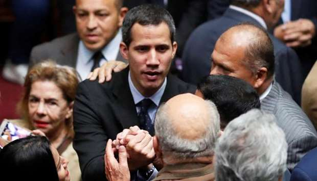 Juan Guaido attends a session of the Venezuela's National Assembly in Caracas