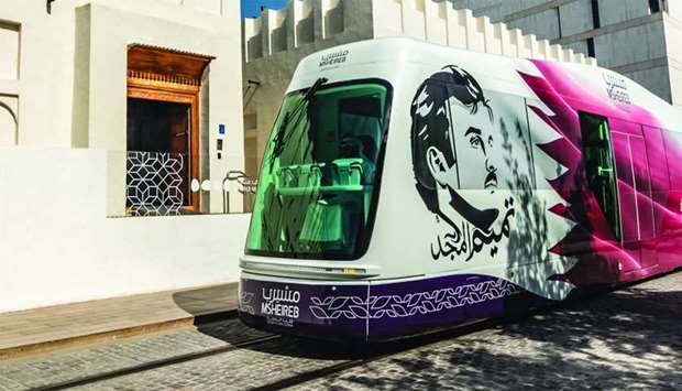 The fully air-conditioned trams incorporate special light-filtering glass panels which inhibit over