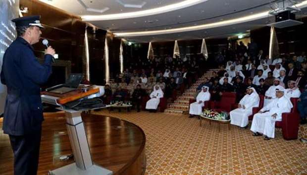 HE Major General Saad bin Jassim al-Khulaifi speaks on the lessons learned from the latest threats a