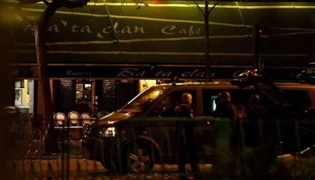 Bataclan cafe near the Bataclan concert hall in central Paris