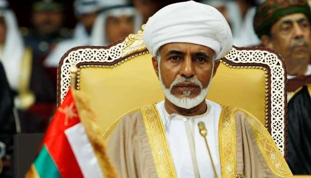 Oman's leader Sultan Qaboos bin Said attends the opening of the Gulf Cooperation Council (GCC) summi