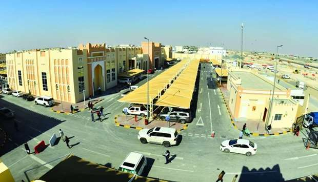 An aerial view of the new Al Sailiya central market which opened yesterday. PICTURES: Ram Chand.