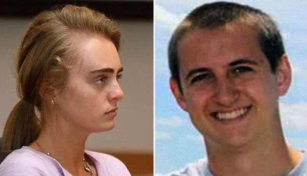 Michelle Carter (L), Conrad Roy (R)