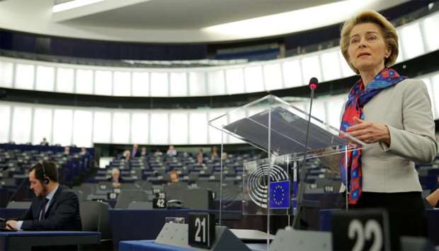 European Commission President Ursula von der Leyen addresses the European Parliament in Strasbourg