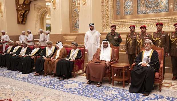 Deputy Amir offers condolences to Sultan of Oman